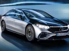 Mercedes-Benz EQS получит задние поворачивающиеся колеса за 489 евро в год