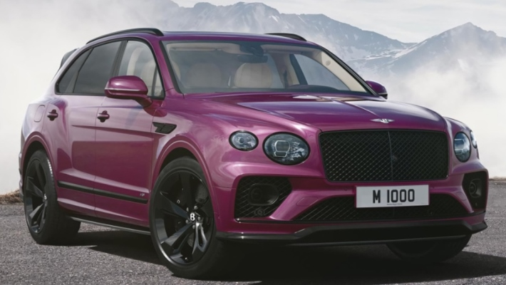 Bentley Bentayga V8, пурпурный, Mulliner