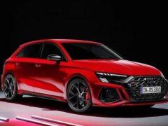 Audi представила спортивные хэтчбек и седан RS3 нового поколения