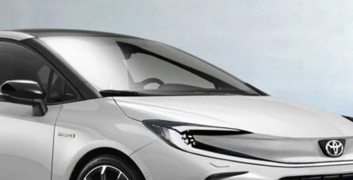 Toyota Corolla, обновленная, рендер